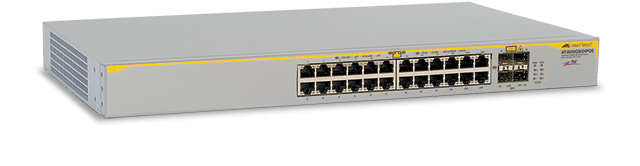 Allied Telesis 8000GS/24POE 24-port stackable 10/100/1000T PoE Layer 2 switch with four standby SFP bays