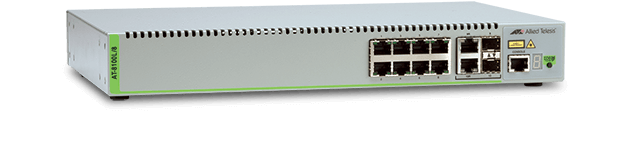 Allied Telesis 8100L/8 8 x 10/100TX ports and 2 x Gigabit combo (10/100/1000T-100/1000 SFP) uplink ports