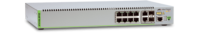 Allied Telesis 8100L/8POE 8-port 10/100TX managed fast Ethernet switch with 2 combo ports (10/100/1000T-100/1000 SFP)