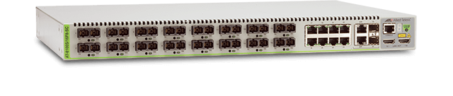 Allied Telesis 8100S/16F8-SC 16 100M fiber SC ports, 8-port 10/100TX, 2 combo ports (10/100/1000T-100/1000 SFP), 2 HDMI stacking ports, standard two AC power supplies