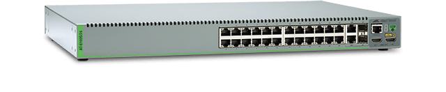 Allied Telesis 8100S/24 24-port stackable 10/100TX Layer 2 switch with 2 active SFP ports and 2 standby 10/100/1000T ports