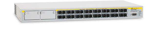 Allied Telesis 8516F/SC 16-port 100FX (SC) Layer 2+ switch with 2 expansion bays
