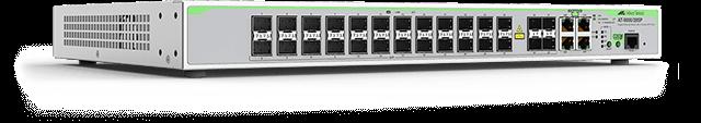 Allied Telesis 9000/28SP 24 x 100/1000 SFP ports, 4 Gigabit-SFP combo ports (4 x 10/100/1000T-100/1000FX ports), internal single AC power supplies