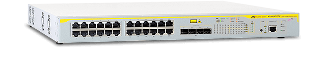 Allied Telesis 9424T/POE 10/100/1000T x 24 ports Power-over-Ethernet managed Ethernet Layer 3 standalone switch with 4 combo SFP bays