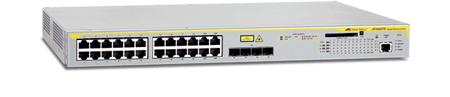 Allied Telesis 9424Ts  10/100/1000T x 24 ports with 4 combo SFP bays and optional stacking ports
