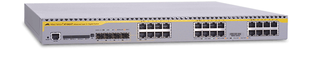 Allied Telesis 9924T 10/100/100T x 24 ports Gigabit Ethernet Layer 3 switch with 4 combo SFP expansion slots
