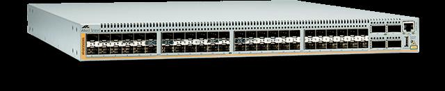 Allied Telesis DC2552XS/L3 48 x SFP+slots, 4 x QSFP+ slots, 2 power supply bays