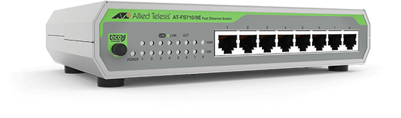 Allied Telesis FS710/8E 8-port 10/100TX unmanaged switch with external PSU