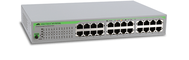 Allied Telesis FS724L 24-port 10/100TX unmanaged switch with internal power supply