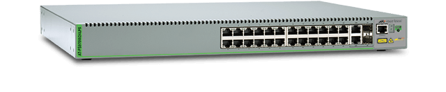 Allied Telesis FS970M/24LPS 24-port 10/100TX PoE+ Fast Ethernet Managed PoE Access Switch with 2 Gigabit/SFP combo ports and one fixed AC power supply