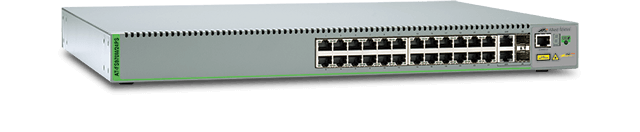 Allied Telesis FS970M/24PS 24-port 10/100TX PoE+ Fast Ethernet Managed PoE Access Switch with 2 Gigabit/SFP combo ports and two fixed AC power supplies
