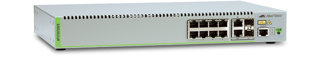 Allied Telesis FS970M/8 8-port 10/100TX Fast Ethernet Managed Access Switch with 2 Gigabit/SFP combo uplinks and one fixed AC power supply