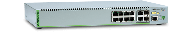 Allied Telesis FS970M/8PS-E 8-port 10/100TX Ruggedized Extended Temperature Fast Ethernet Managed Access PoE+ Switch with 2 Gigabit/SFP combo uplinks and one fixed AC power supply