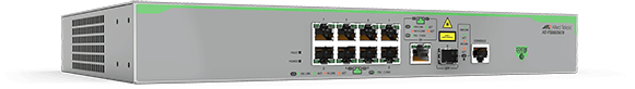 Allied Telesis FS980M/9 8-port 10/100TX switch with 1 combo (10/100/1000T or 100/1000X SFP) uplink port. (*available Q1 2017)