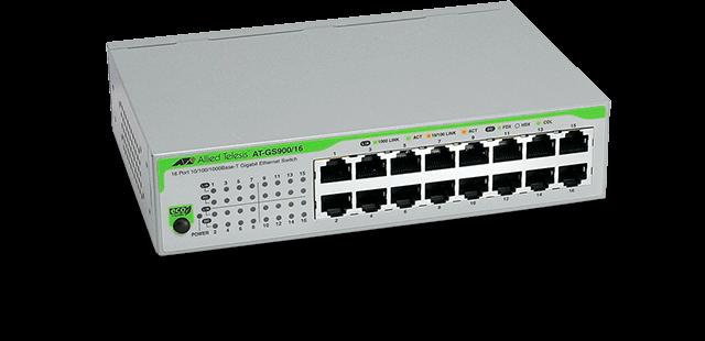 Allied Telesis GS900/16 10/100/1000T x 16 ports unmanaged Gigabit switch
