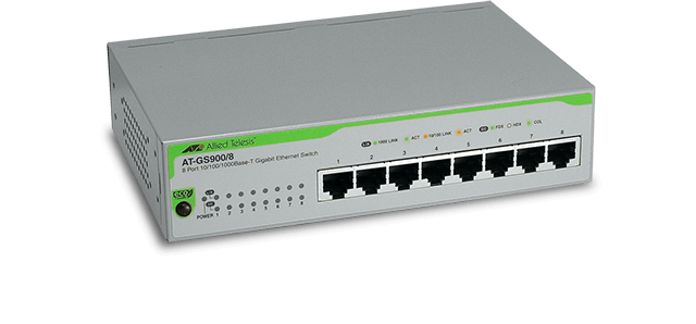 Allied Telesis GS900/8  10/100/1000T x 8 ports unmanaged Gigabit switch