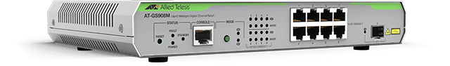 Allied Telesis GS908M 8 x 10/100/1000T ports and 1 x SFP port