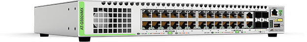 Allied Telesis GS924MX 24-port 10/100/1000T stackable switch with 2 combo ports (10/100/1000T or 100/1000X SFP) and 2 SFP+ stacking/user ports