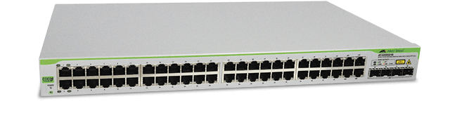 Allied Telesis GS950/48 48-port 10/100/1000T eco-friendly WebSmart switch with 4 SFP combo ports