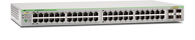 Allied Telesis GS950/48PS 48-port 10/100/1000T WebSmart switch with 4 SFP combo ports