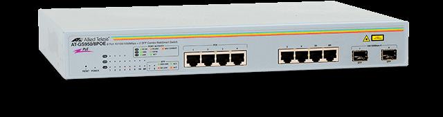 Gs950 8poe Gigabit Websmart Switch Allied Telesis