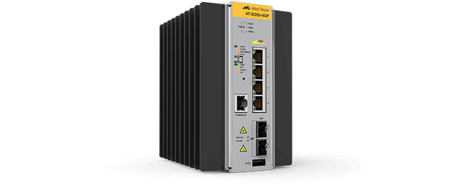 Allied Telesis IE200-6GP 4x 10/100/1000T, 2x 100/1000X SFP, Industrial Ethernet, Layer 2 Switch, PoE+ support