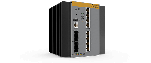 Allied Telesis IE300-12GT 8x 10/100/1000T, 4x 100/1000X SFP, Industrial Ethernet, advanced Layer 3 Switch