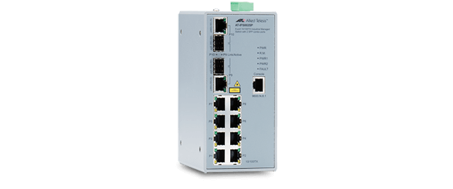 Allied Telesis IFS802SP 8x 10/100T, 2x 100/1000X SFP combo, Fast Ethernet Industrial Switch