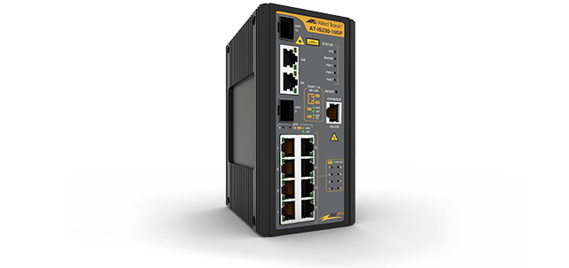Allied Telesis IS230-10GP  8 x 10/100/1000T, 2 x 100/1000X SFP combo, Industrial Layer 2 Switch, POE+ support