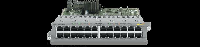 Allied Telesis SBx31GP24 24-port 10/100/1000T PoE Ethernet line card