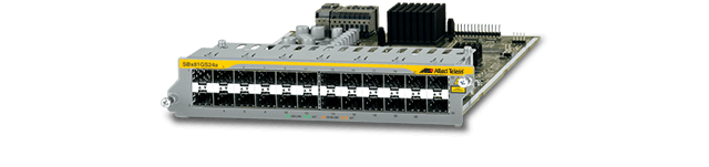 Allied Telesis SBx81GS24a The Allied Telesis SBx81GS24a line card provides 24 SFP Gigabit ports, providing a host of flexible connectivity options.