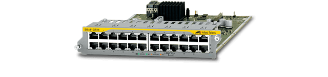 Allied Telesis SBx81GT24 The Allied Telesis SBx81GT24 line card provides 24 Gigabit copper ports, allowing for the aggregation of densely populated networking devices.