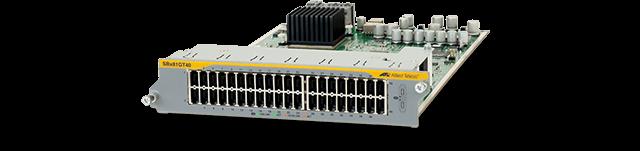 Allied Telesis SBx81GT40 40-port 10/100/1000T Line Card features RJ.5 connector