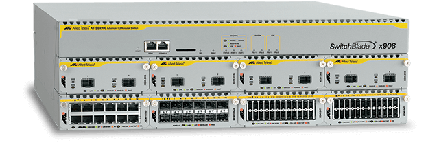Allied Telesis SwitchBlade x908 Advanced Layer 3 modular switch with 8 x high-speed expansion bays