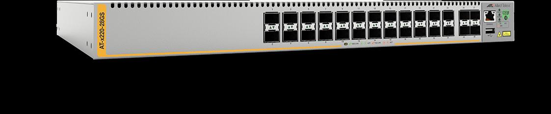 Allied Telesis x220-28GS 24-port 100/1000X SFP and 4 100/1000X SFP uplink managed switch