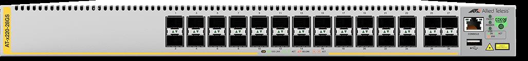Allied Telesis x220-28GS 24-port 100/1000X SFP and 4 100/1000X SFP uplink managed switch alternate 1