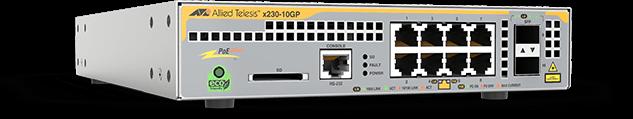Allied Telesis x230-10GP 8 x 10/100/1000T PoE+ port and 2 x 100/1000X SFP port L3 switch