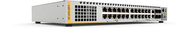 Allied Telesis x310-26FT 24 x 10/100T port switch with 2 combo ports (100/1000X SFP or 10/100/1000T) and 2 stacking ports