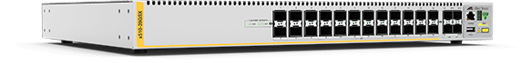 Allied Telesis x510-28GSX-80 24-port 100/1000X SFP stackable switch with 4 SFP+ ports and 2 fixed DC power supplies