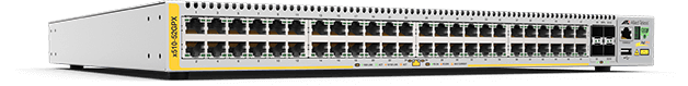 Allied Telesis x510-52GPX 48-port 10/100/1000T PoE+ stackable switch with 4 SFP+ ports and 2 fixed power supplies
