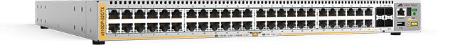 Allied Telesis x510DP-52GTX 48-port 10/100/1000T stackable switch with 4 SFP+ ports and 2 hot-swappable power supplies
