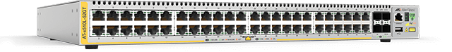 Allied Telesis x510L-52GT 48 x 10/100/1000T ports and 4 x 1G/10G SFP+ uplink ports, with a single internal power supply