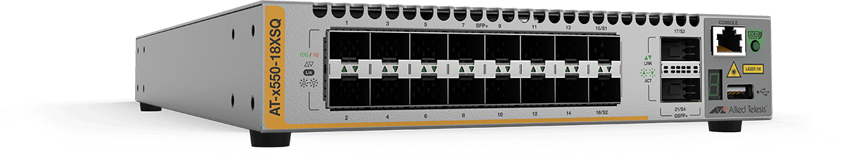 Allied Telesis x550-18XSQ 16-port 1G/10G SFP+ and two 40G uplink intelligent switch