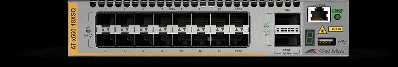 Allied Telesis x550-18XSQ 16-port 1G/10G SFP+ and two 40G uplink intelligent switch alternate 1