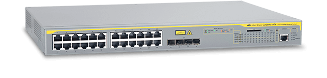 Allied Telesis x600-24Ts 24 x 10/100/1000T (RJ-45) copper ports, 4 x 1000X SFP combo ports, 1 x expansion bay for AT-Stack-XG module