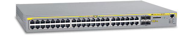 Allied Telesis x600-48Ts 44 x 10/100/1000T (RJ-45) copper ports, 4 x 1000X SFP ports, 1 expansion bay for AT-Stack-XG module