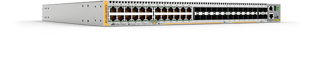Allied Telesis x930-28GSTX 24-port 10/100/1000T and 24-port 100/1000 SFP stackable switch with 4 SFP+ ports and dual hotswap PSU bays