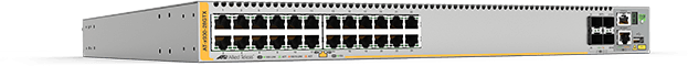 Allied Telesis x930-28GTX 24-port 10/100/1000T stackable switch with 4 SFP+ ports and dual hot-swap PSU bays