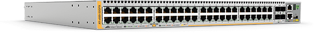 Allied Telesis x930-52GPX 48-port 10/100/1000T PoE+ stackable switch with 4 SFP+ ports and dual hot-swap PSU bays