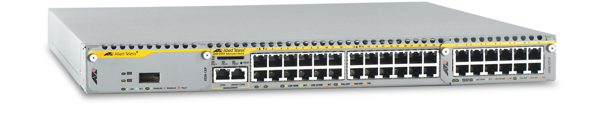 Allied Telesis x900-24XT 10/100/1000T x 24 ports modular Gigabit Ethernet Layer 3 switch with two 30Gbps expansion bays